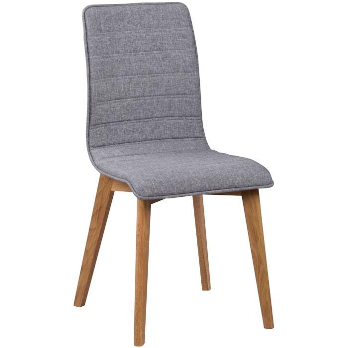Rowico Grace ruokapöydän tuoli, vaaleanharmaa kangas tammi