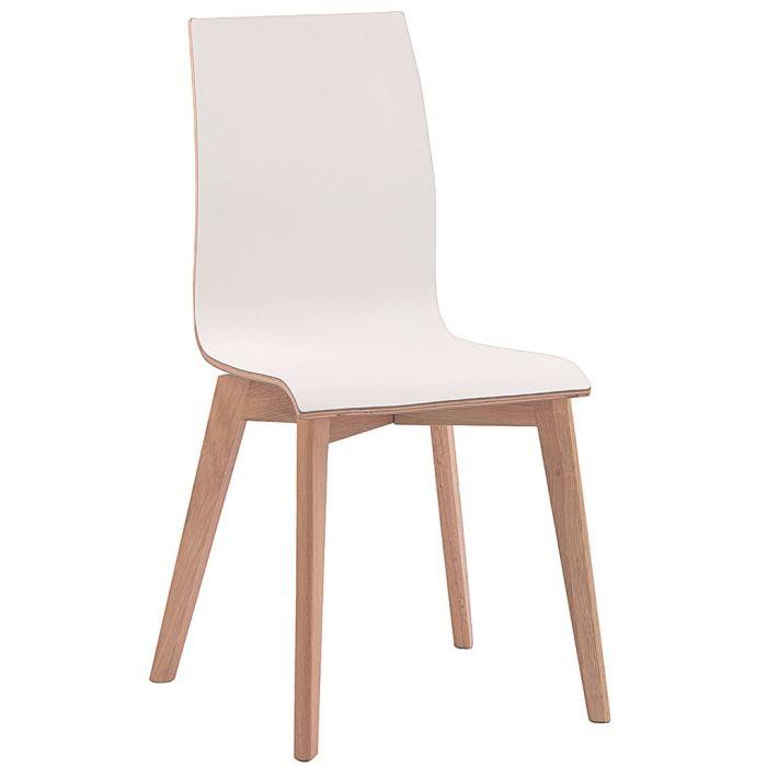 Rowico Grace ruokapöydän tuoli, valkoinen laminaatti tammi