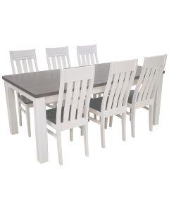 Colt pöytä + 6 Kanerva tuolia, eri värejä