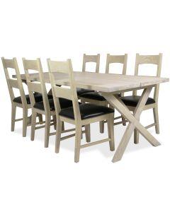Chamonix tammi ruokapöytä ja tuolit