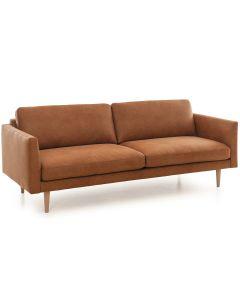 Konjakinvärinen Lario kolmenistuttava sohva