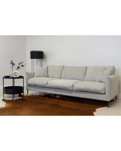 Mocca vaaleanharmaa sohva höyhenistuimilla