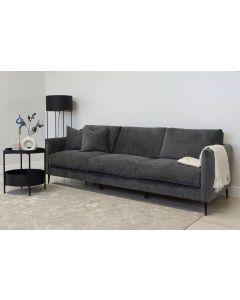 Tummanharmaa Mocca 3-istuttava sohva