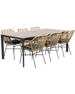 West pöytä + 6 Amanda tuolia