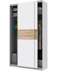 Liukuovikomero 120 cm Wilma valkoinen tammi ovilla
