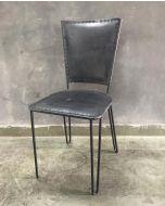 Harry tuoli nahkaverhoiltu, antiikkiharmaa
