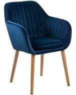 Emilia tuoli, sininen sametti