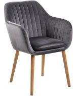 Emilia tuoli, harmaa sametti