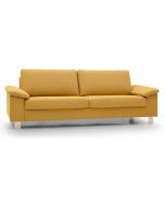 Unico Kasper 2Maxi sohva keltaisella Sakura 025 verhoilukankaalla, leveys 218cm